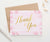 TY051 simple pink floral thank you cards flowers gold script