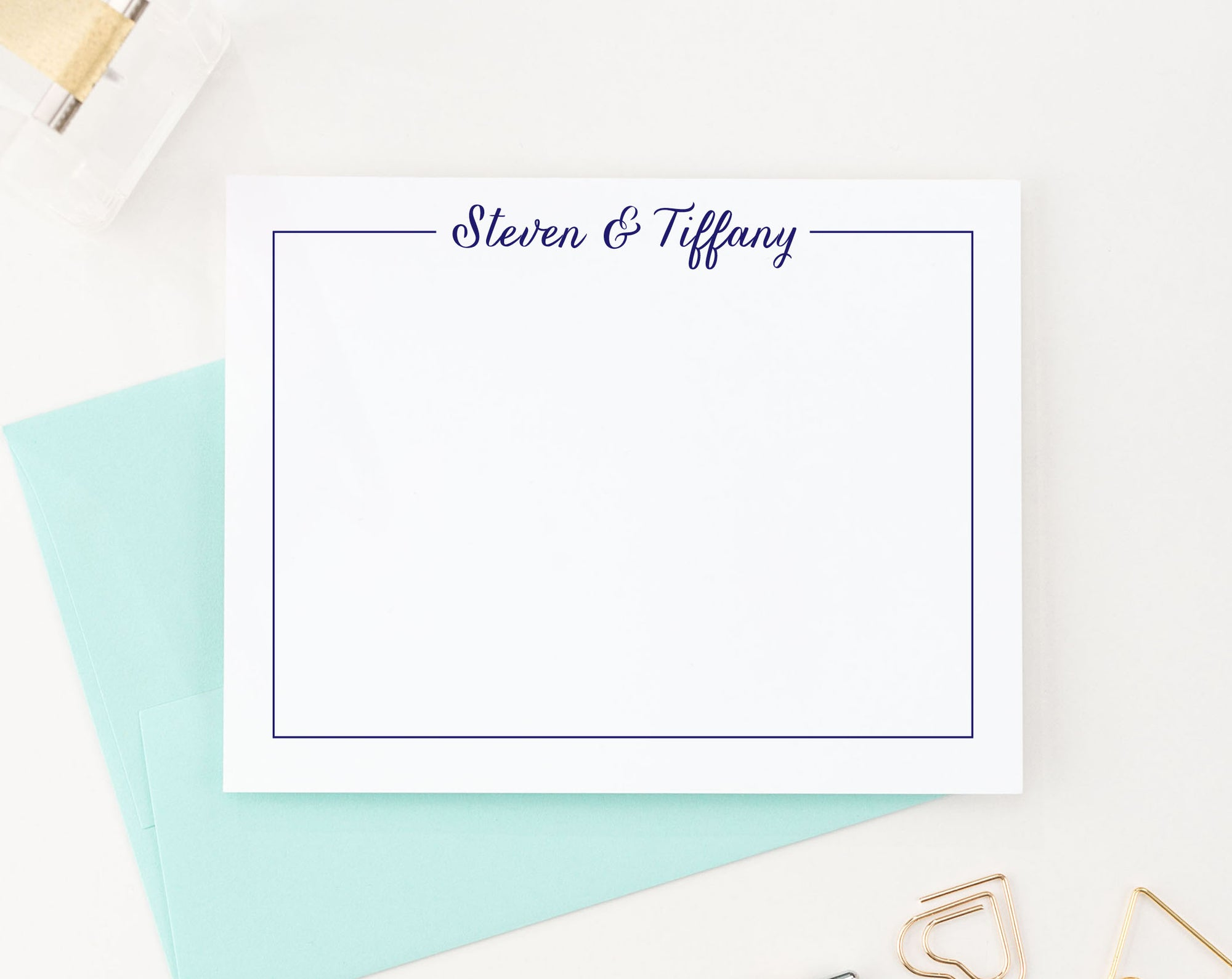 WS003 border and name anniversary thank you cards engagement wedding gifts 1