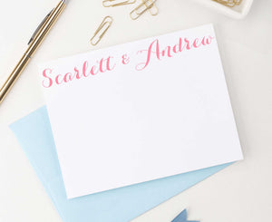 Simple Script Names Wedding Stationery Personalized