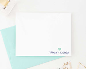 WS017 personalized names and heart wedding thank you notes cute simple modern 1