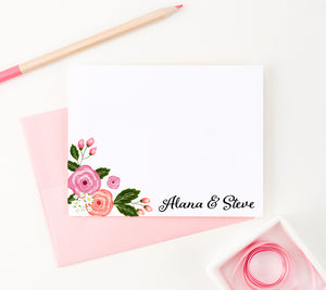 WS022 personalized floral family thank you notes flowers corner
