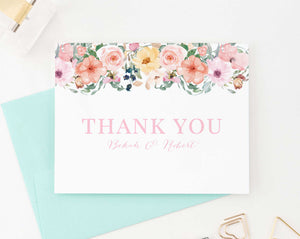 WS034 personalized folded floral wedding thank you gifts engagement couples florals 1