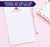 np248 personalized stationary paper for girls with teepee tent boho block font 1