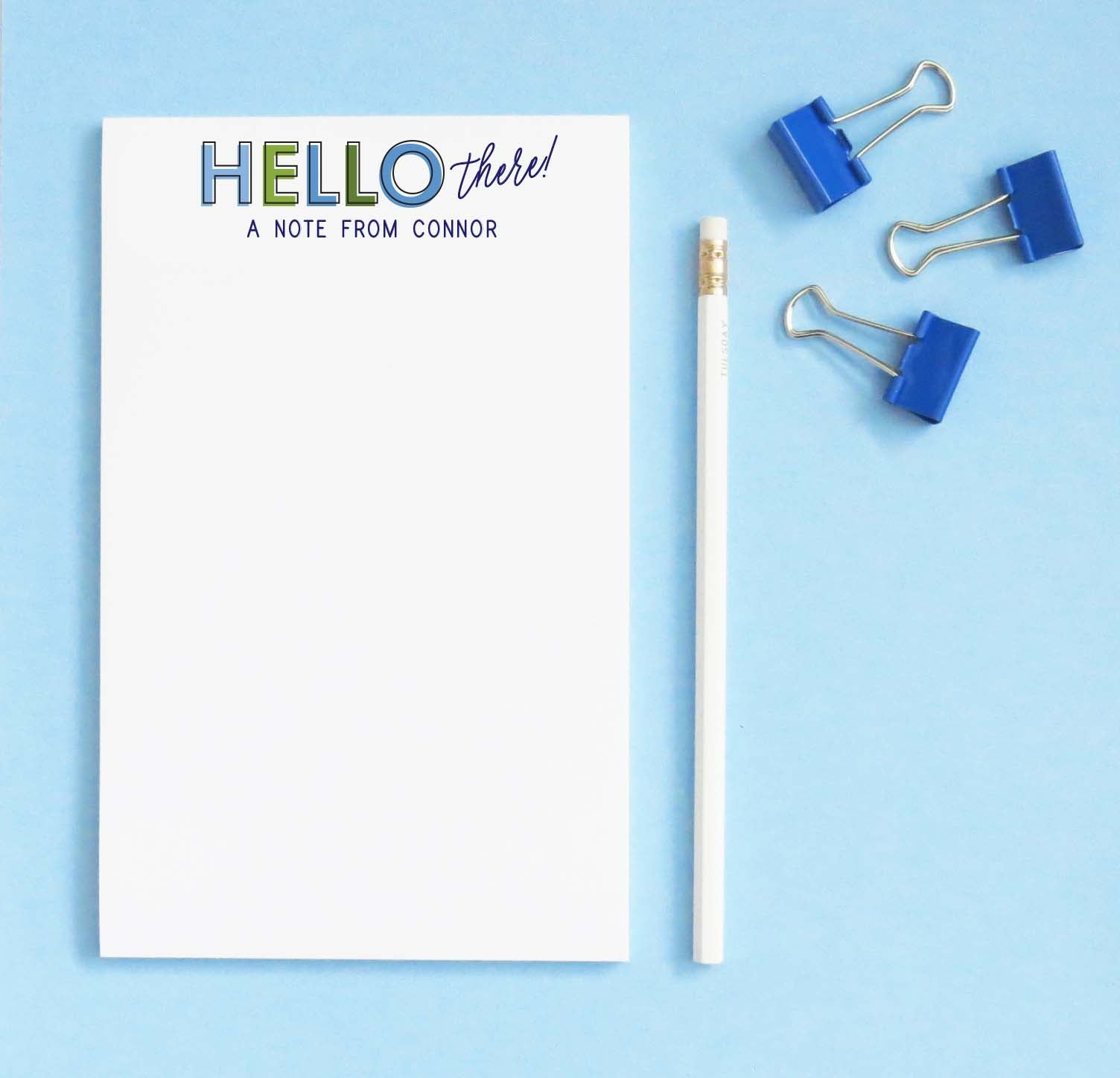np257 Personalized simple stationary paper for boys block font fun 1