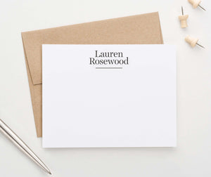 ps140 classic block font personalized notecards for business professional