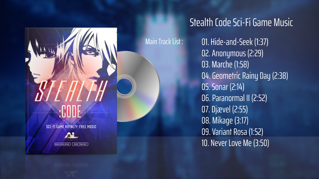 stealth code sci-fi game music main track list