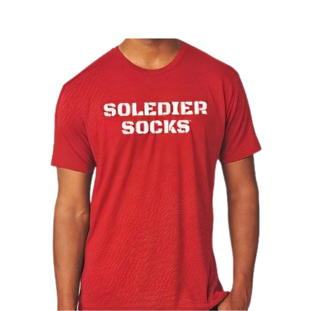 SOLEDIER SOCKS Ultra Soft Tee - Red