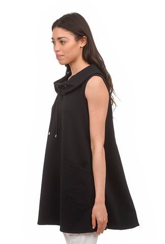 Ponte Cowl Tunic, Black
