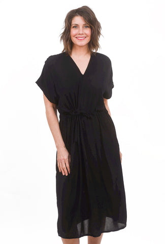 Otres V-Neck Dress, Black