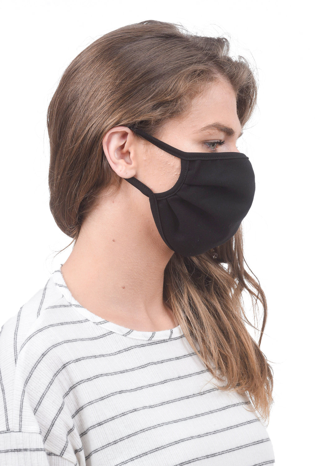 Coin Solid Face Mask, Black