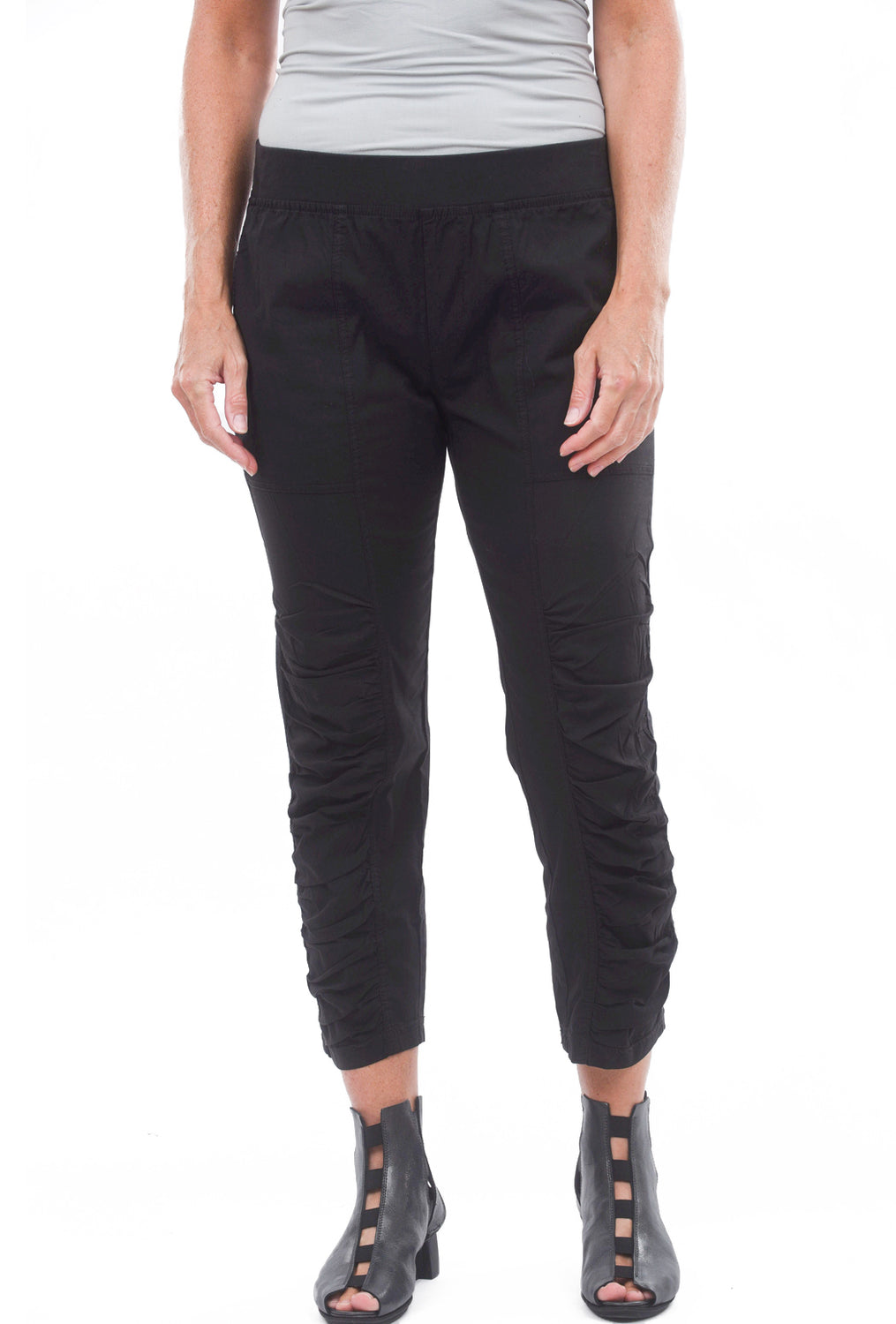 Geyser Cropped Pants, Black