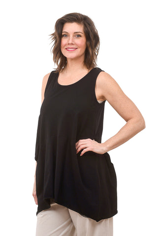 Sleeveless Bell Tank, Black