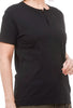 Henley Three-Button Tee, Black