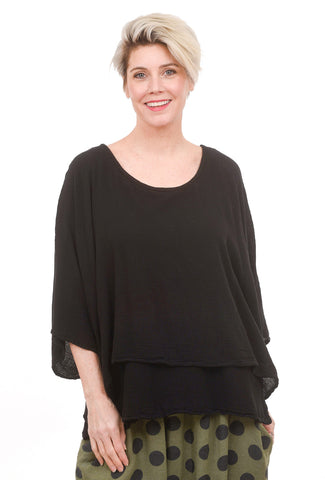 Twins Layered Top, Black