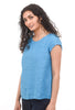 Tuck-Back Yarn-Dye Top, Azure