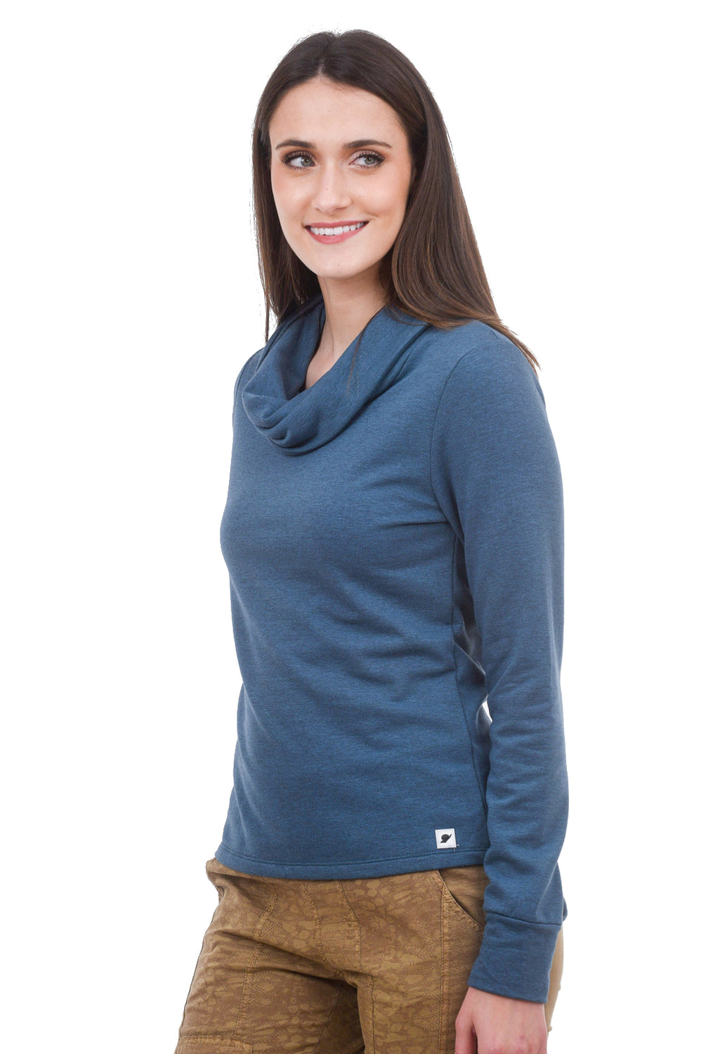 Dylan Cowl Neck Top, Blue