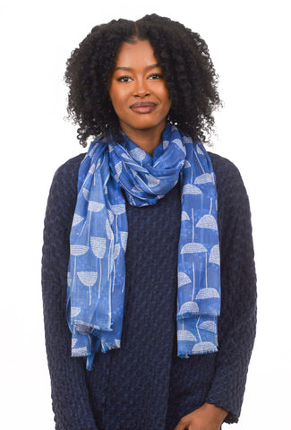 NS Scarf, Blue Umbels