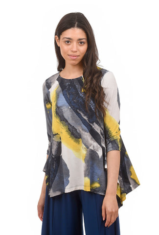 Reanna Painterly Top, Sunrise Yellow