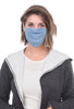 Coin Solid Face Mask, Denim