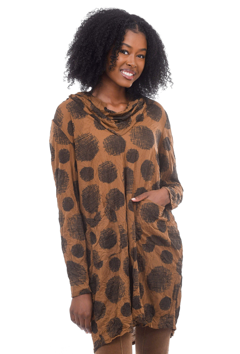 Tyler Tunic Dress, Dachshund Brown