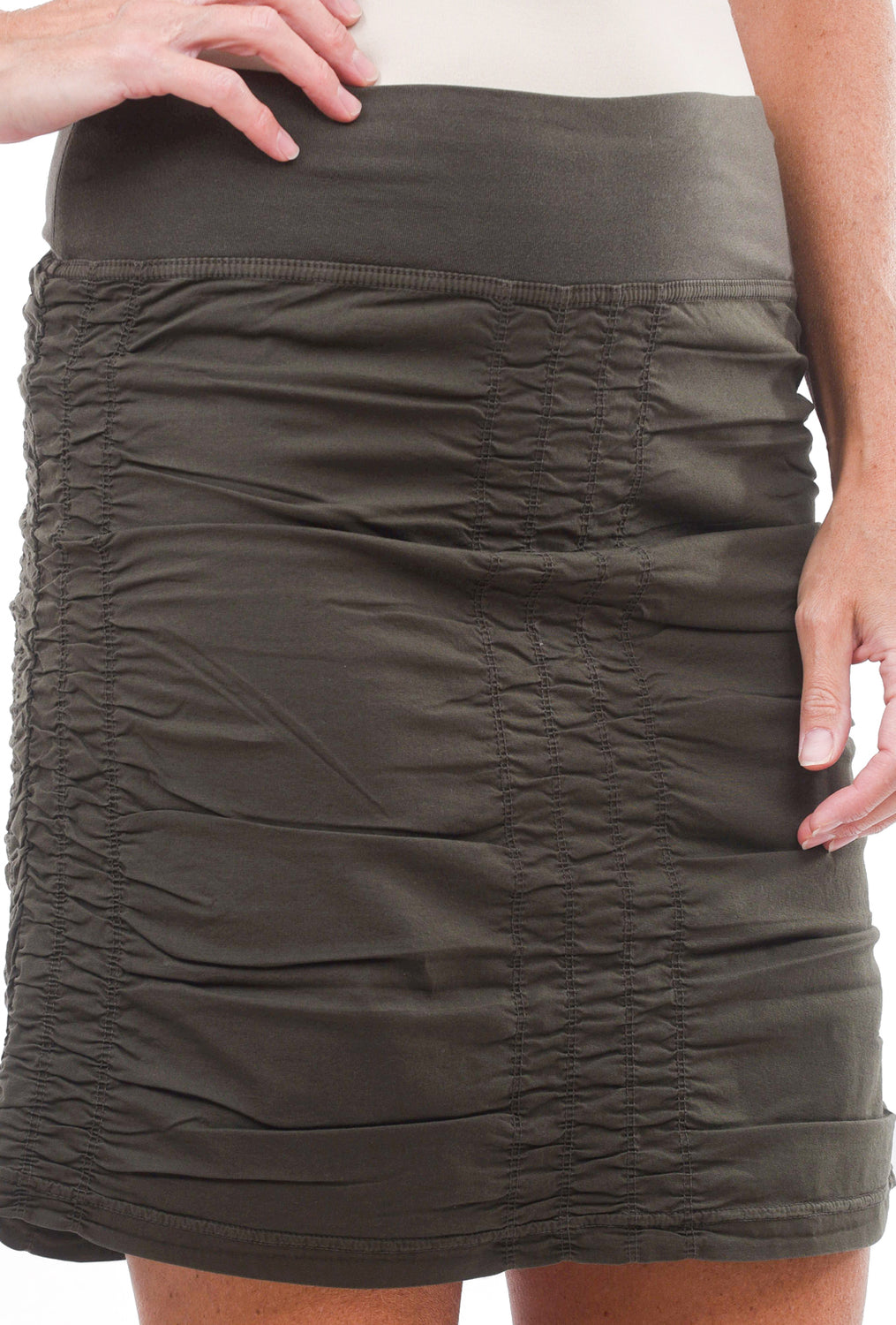 Trace Skirt, Hex Green