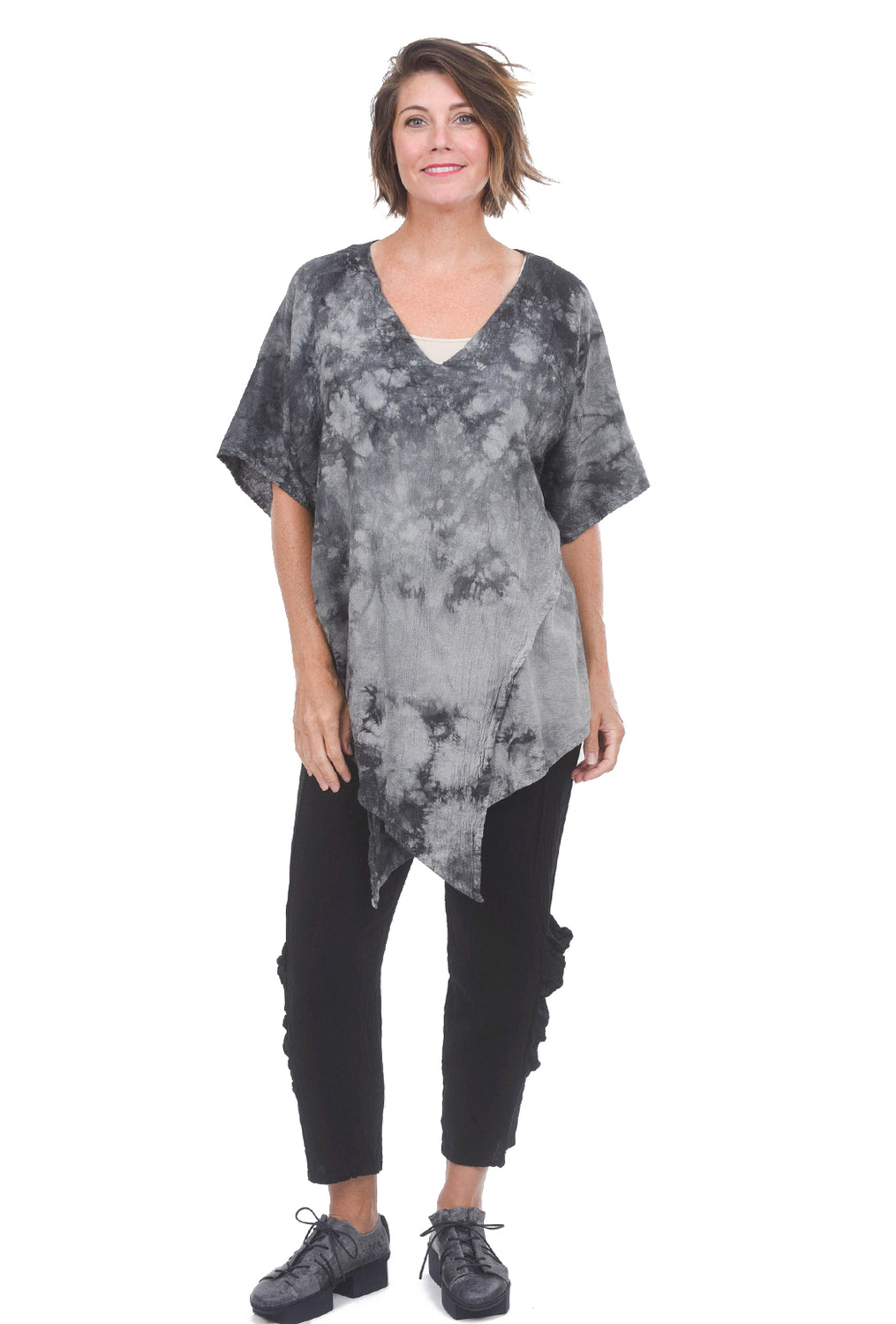 Luna Blouse, Washed Black