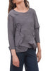 Crinkle Origami Top, Gray