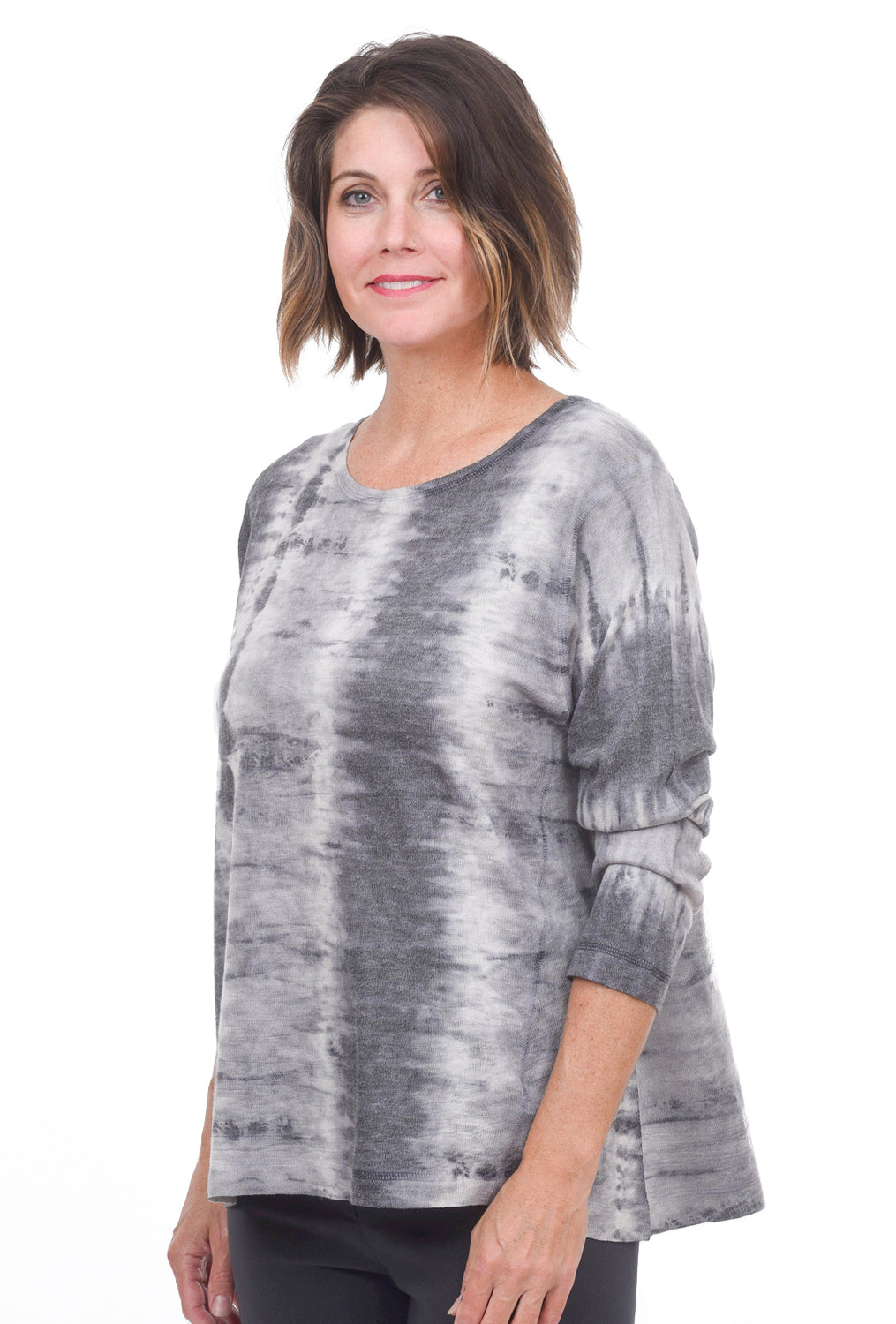 Skeleton Dye Top, Gray