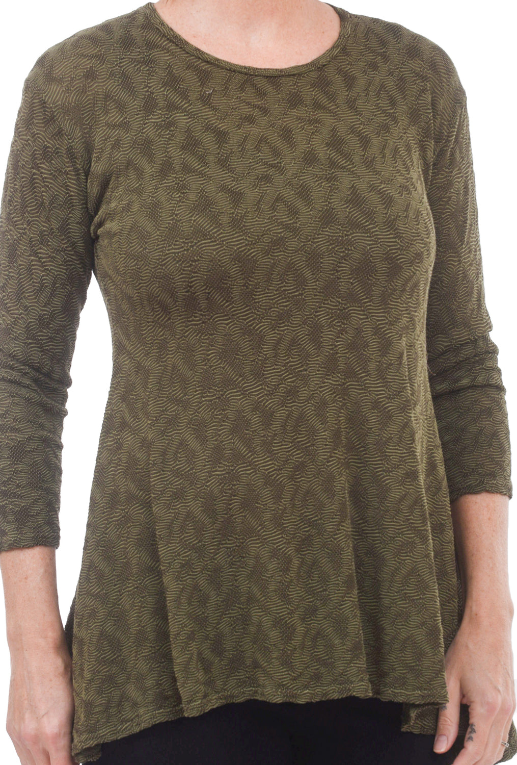 Needlepoint Texture Top, Gris
