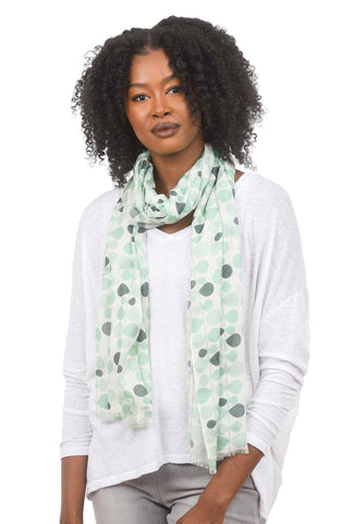 NS Scarf, Mint Vines