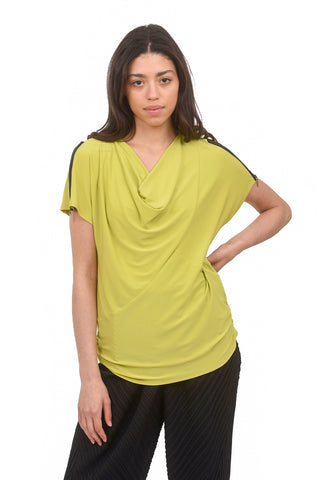 Eliana Zip Detail Top, Citron