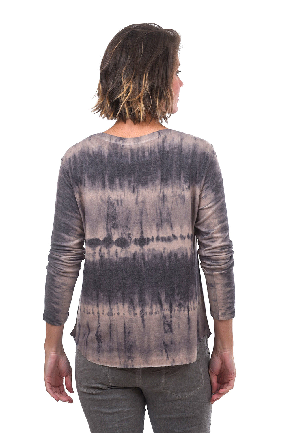 Brushed Reverse Dye Top, Toast