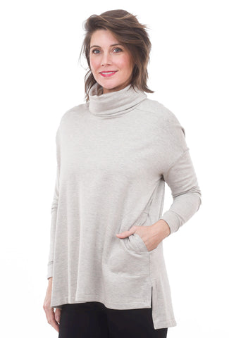 Lauren Turtleneck Tunic, Oatmeal