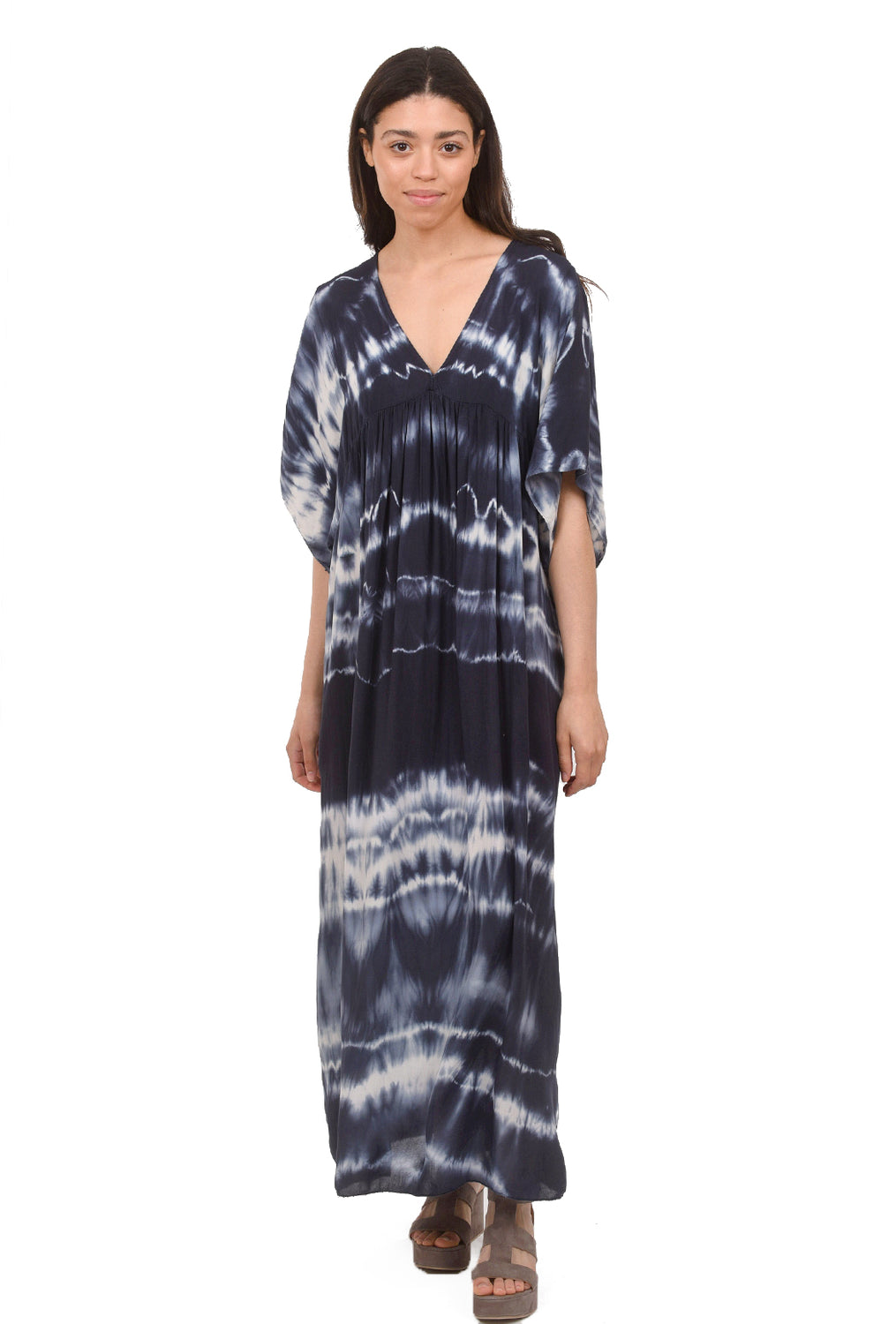 Tie-Dye Maxi Dress, Navy