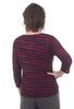 3/4-Sleeve Boatneck Top, Radish