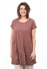 Thai Cotton Striped Dress, Clay