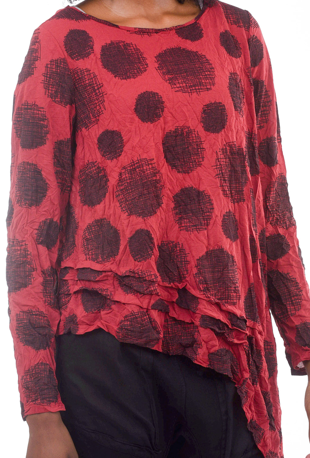 Thora Printed Top, Barn Red