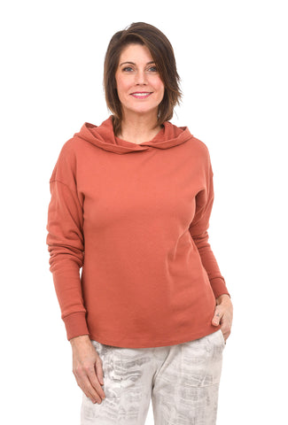 Easy Fit Hoodie, Red Jasper