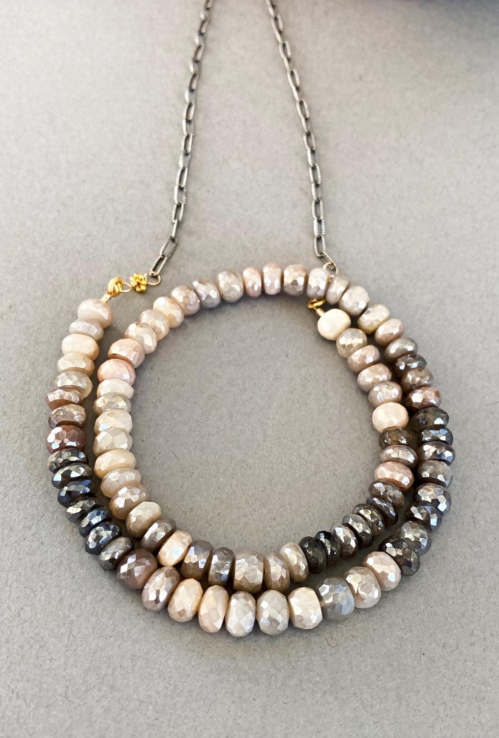 Silverite Rondelles Necklace
