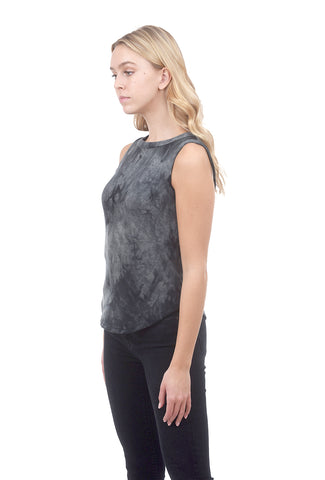Cozy Tie-Dye Tank, Gray/Charcoal