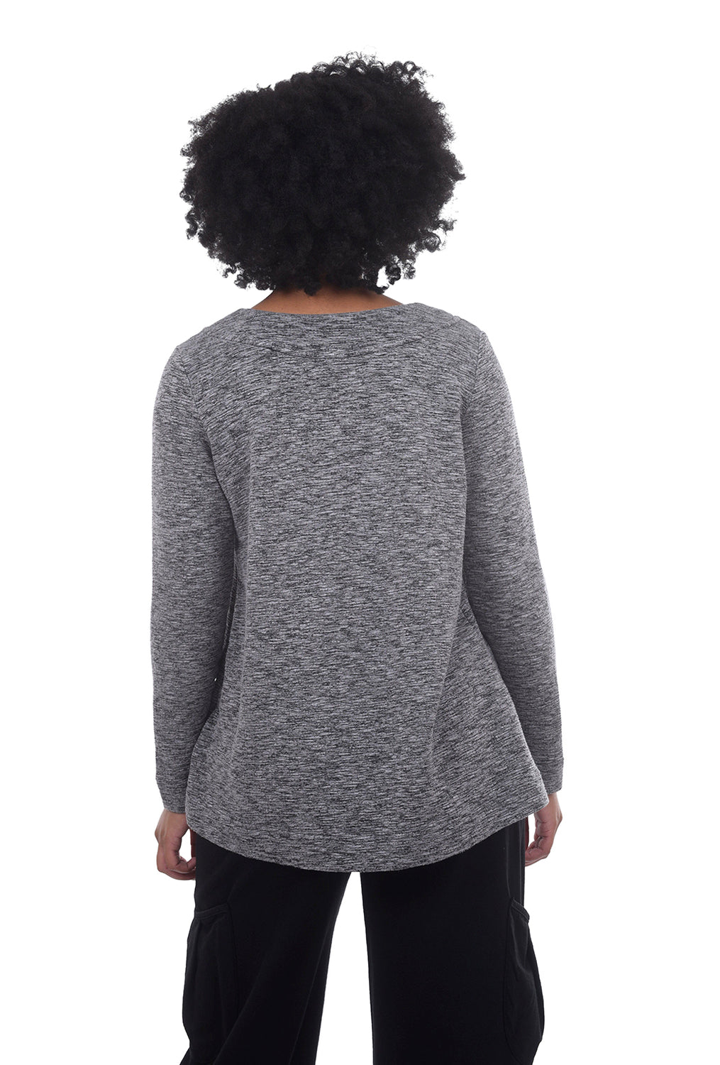 Crimped Pocket Top, Cathedral Gray
