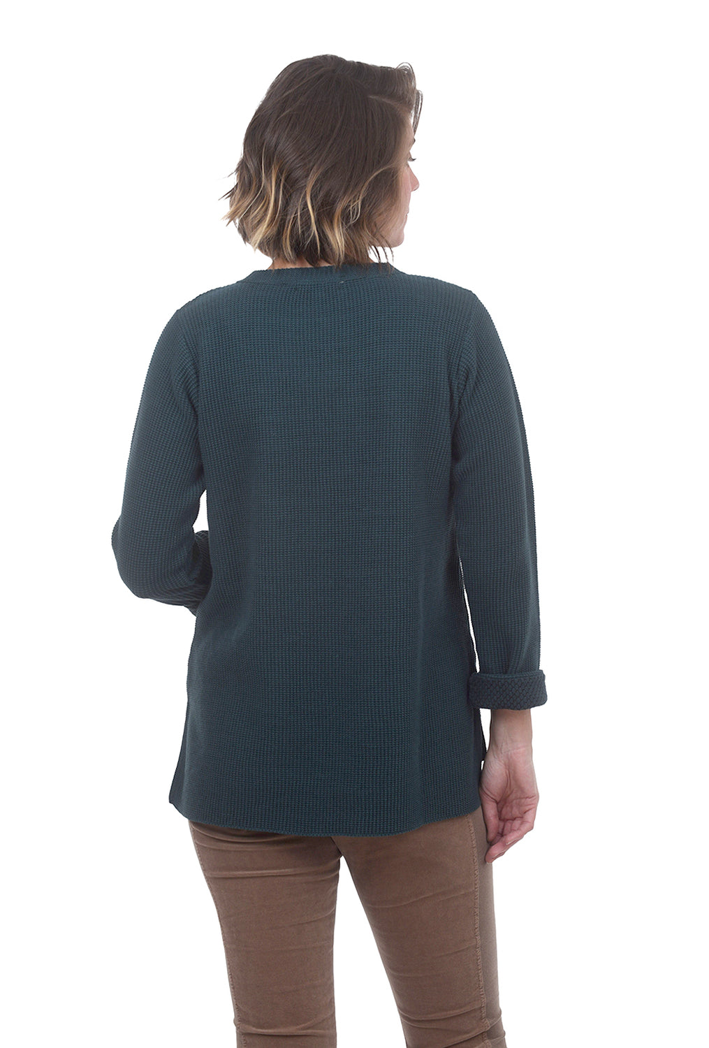 Cuffed Sleeve Sweater, Green