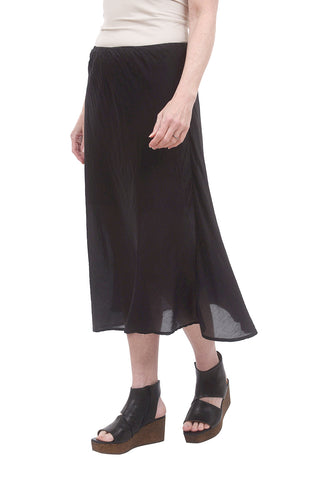 Bias Voile Skirt, Black