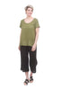 Mixed Linen Scoop Tee, Jungle
