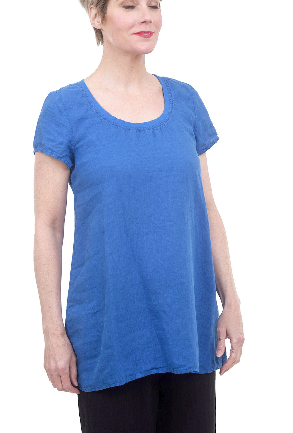 Avenue Linen Top, Cobalt