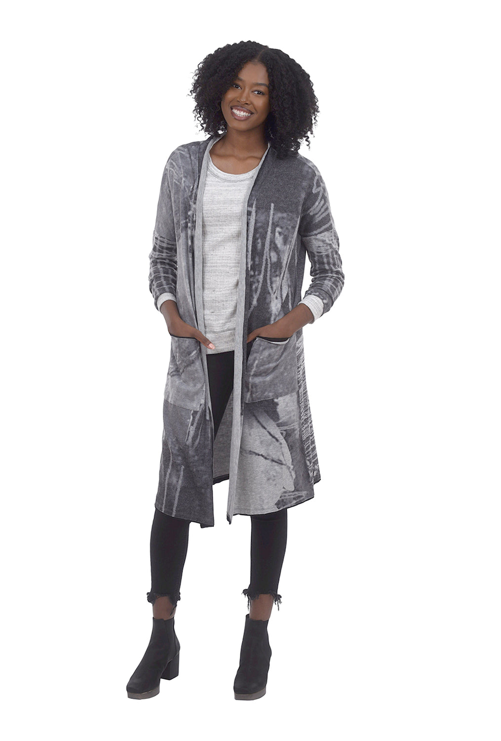 Abstract Open Cardie, Gray