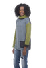 Reversible Cowl Sweater, Green/Rain