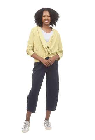 Draped Cropped Cardie, Honey