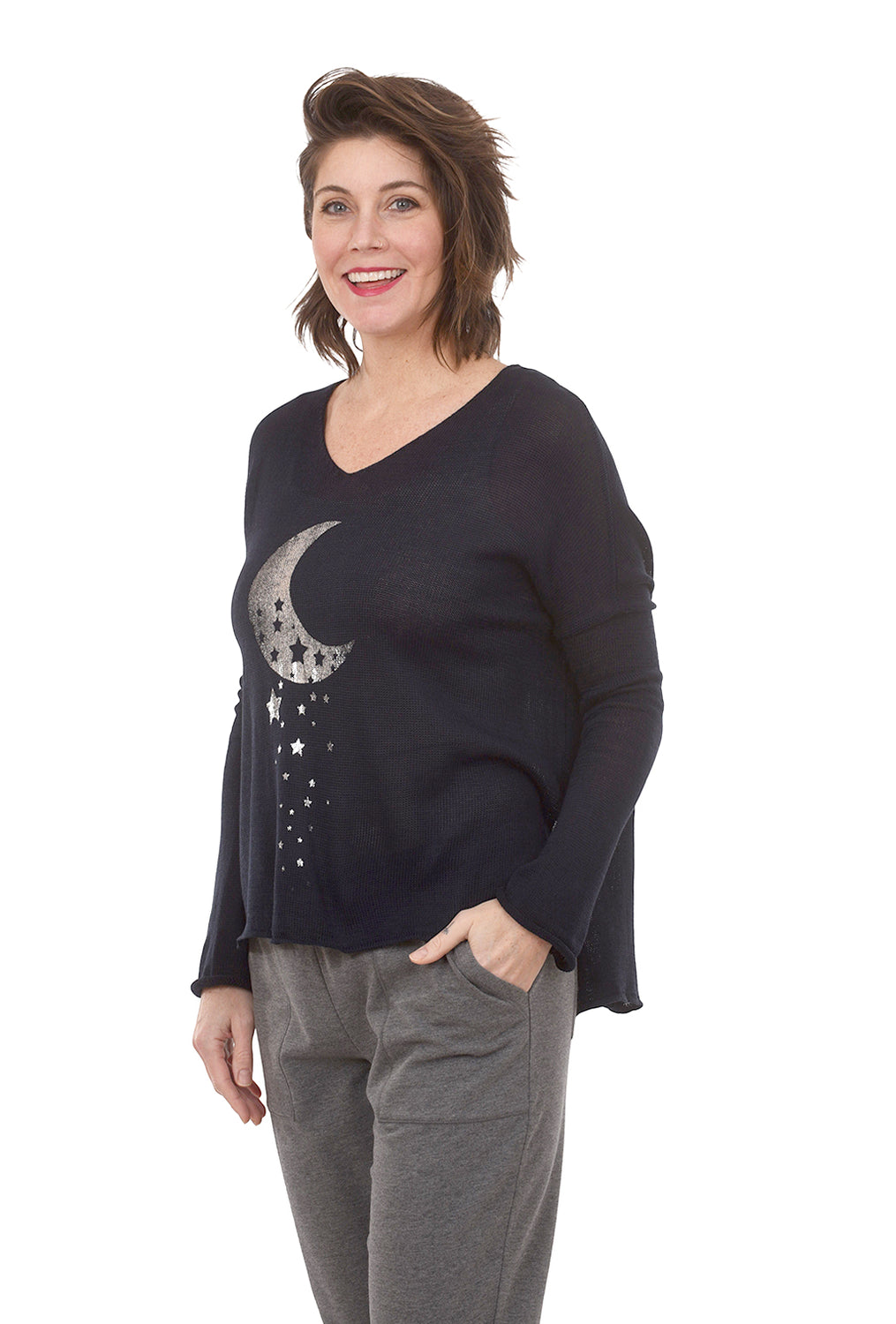 Over the Moon Sweater, Night Blue