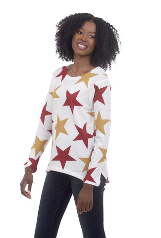 Thermal Boxy Top, Star Multi